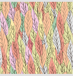 seamless pattern colorful leaves vector image