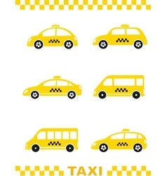 set of taxi car and stripe vector image