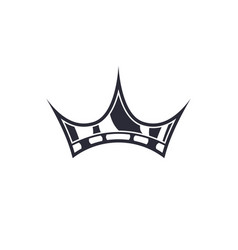 simple crown icon isolated on white background vector image