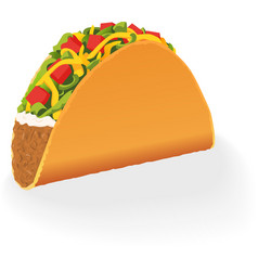 Single mexican Taco vector