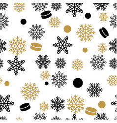 snowflakes and cake seamless pattern vector image