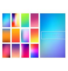Soft color gradients background vector