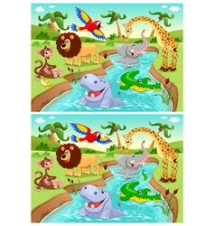 Spot the differences vector