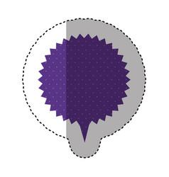 Sticker of circular speech with sawtooth contour vector