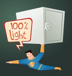 Superhero carry a deposit box vector