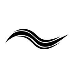 swoosh sea wave logo template for tourism water vector image