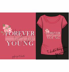 t shirt of print clothes decor clothes design vector image