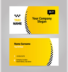 taxi business or visiting card vector image