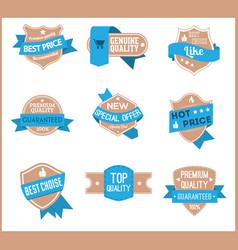 Top pr marketing labels set 10 vector