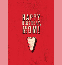Typographical vintage grunge birthday card vector
