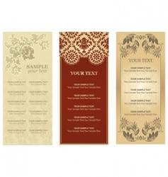 Vector restaurant menu ornament flowers vector