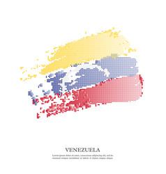 venezuela flag with halftone effect vector image