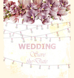 wedding invitation card spring floral and vector image