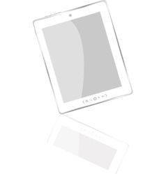 white abstract tablet pc vector image