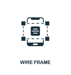 wire frame icon simple element from app vector image