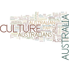 Australia culture text background word cloud vector
