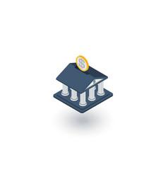 bank building finance money savings isometric vector image