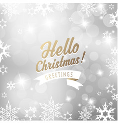 christmas silver background with snowflakes and vector image