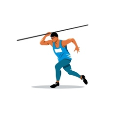 Javelin Thrower sign vector image vector image