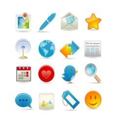 social media set vector image vector image