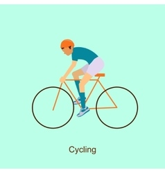 Sport people activities icon cycling vector