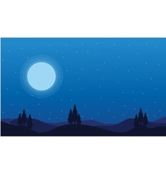 At night Christmas landscape collection vector image vector image
