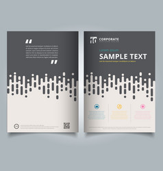 brochure template gray rounded lines halftone vector image vector image