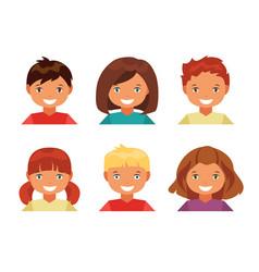 children avatars vector image