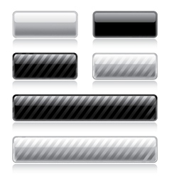 Glossy web buttons vector