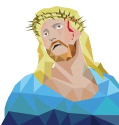 jesus polygon style vector image