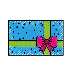 scribble colofull gift cartoon vector image vector image