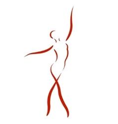 Sketched dancing woman vector image vector image