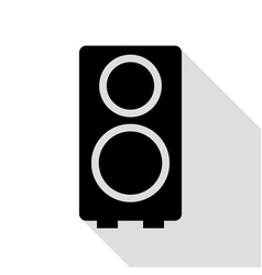 speaker sign black icon with flat vector image vector image
