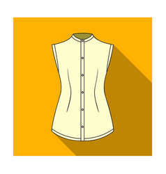 beige button-down shirt without sleeves for the vector image vector image