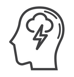 brainstorm line icon business and idea vector image vector image