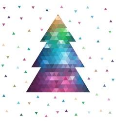 Geometric christmas tree vector image