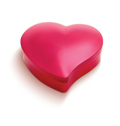 heart shaped chocolate box 3d vector image vector image