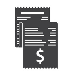 invoice bills icon vector image vector image
