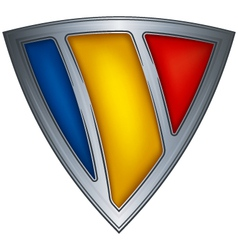 steel shield with flag chad vector image vector image