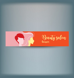 banner with stylish woman silhouette vector image vector image