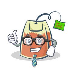 businessman tea bag character cartoon art vector image