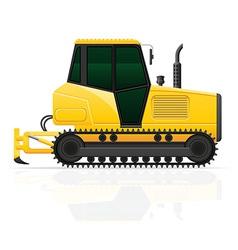 Caterpillar tractor 04 vector