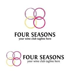 Four Seasons Wine logo Template vector image vector image