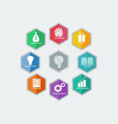 infographic design modern business idea vector image
