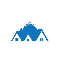 mountain home logo image vector image vector image