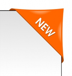 new orange corner business ribbon vector image vector image
