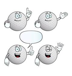 Smiling golf ball set vector image
