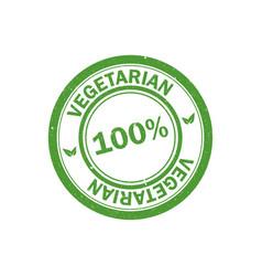 100 vegetarian stamp vegan logo icon vector image