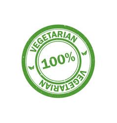 100 vegetarian stamp vegan logo icon vector