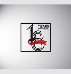 18 years anniversary logotype flat style vector